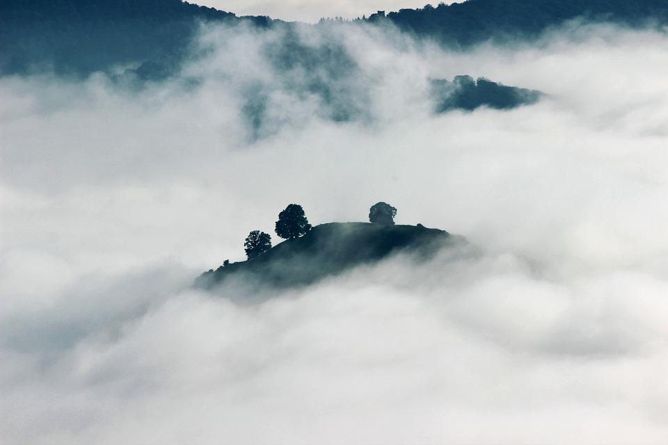 Clouds, Mountain, Nature, Sea Of Clouds, Trees