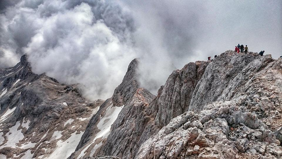 Mountain, Triglav, Clouds
