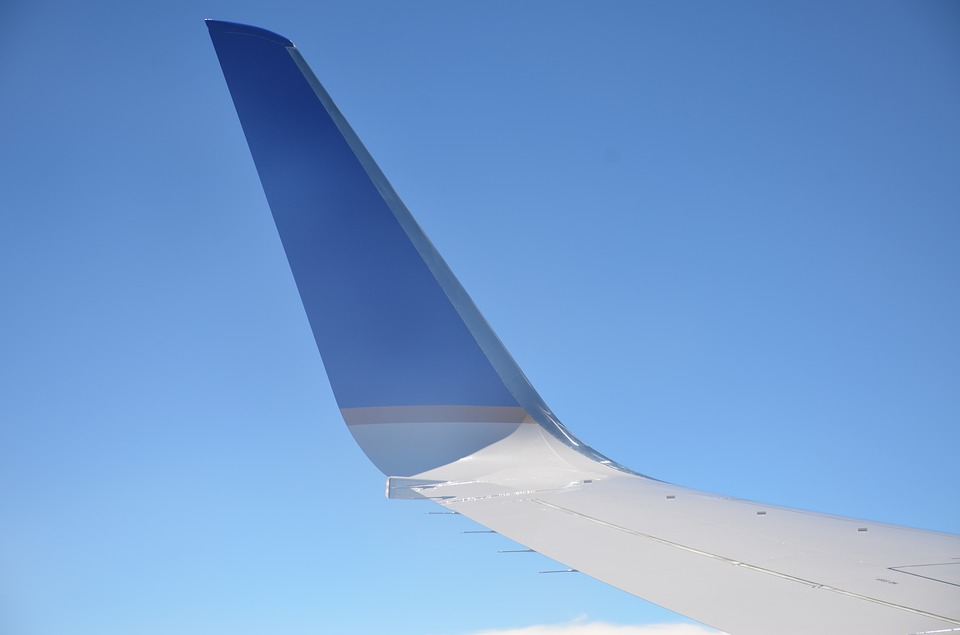 United Airlines, Sky, Flight, Airplane, Blue, Clouds