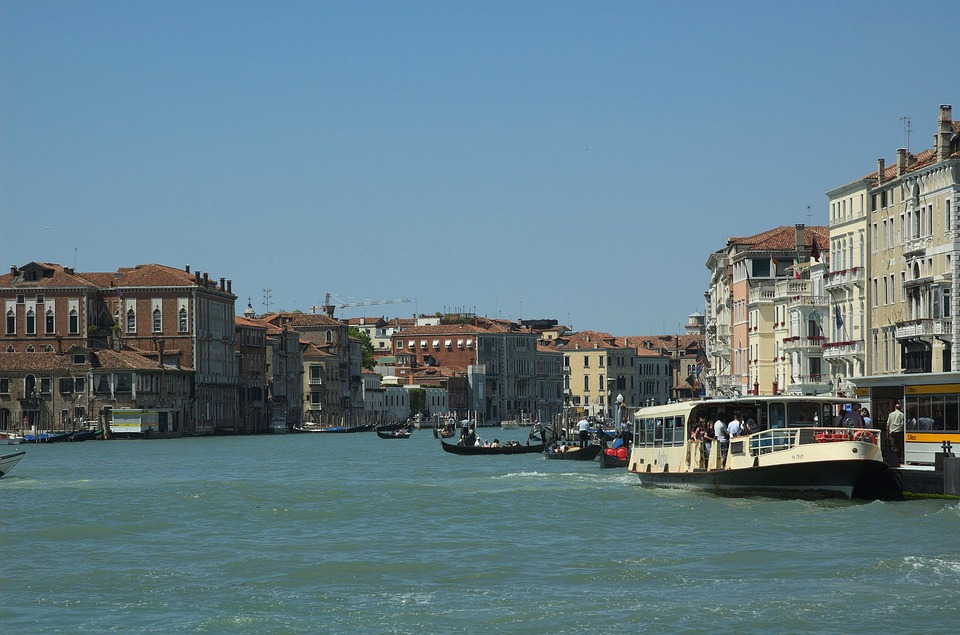 Venice, Italy, Sky, Clouds, Canal, Waterway, Boats