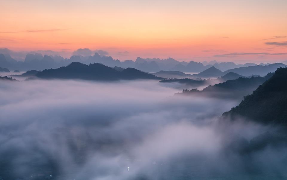 Clouds, Mountains, Landscapes, Vietnam Scenes