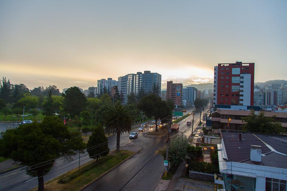 Morning, View, Clouds, Dawn, Street, Park, Tranquil