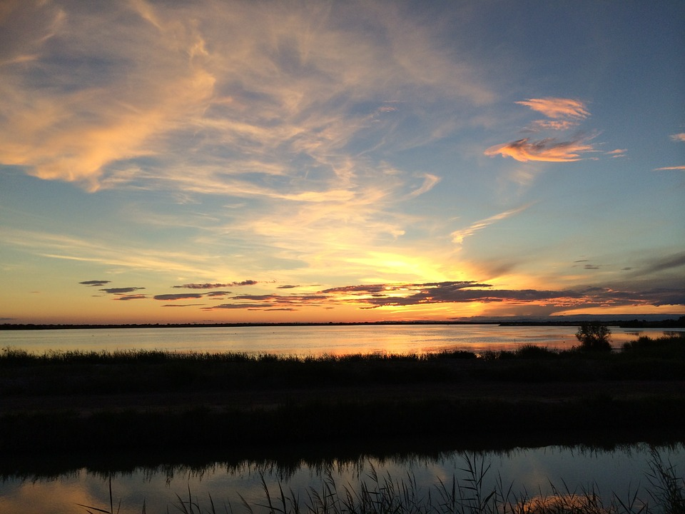 Holidays, Sunset, View, Sky, Sea, Clouds, Sun