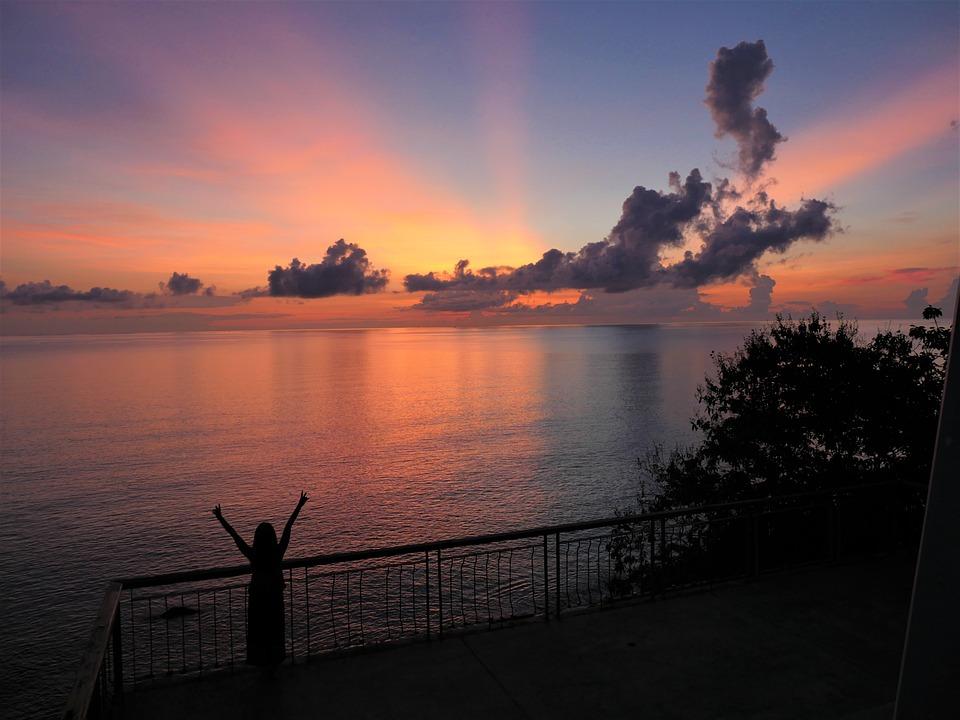 Sunrise, Sunset, Landscape, Sky, Sun, Water, Clouds