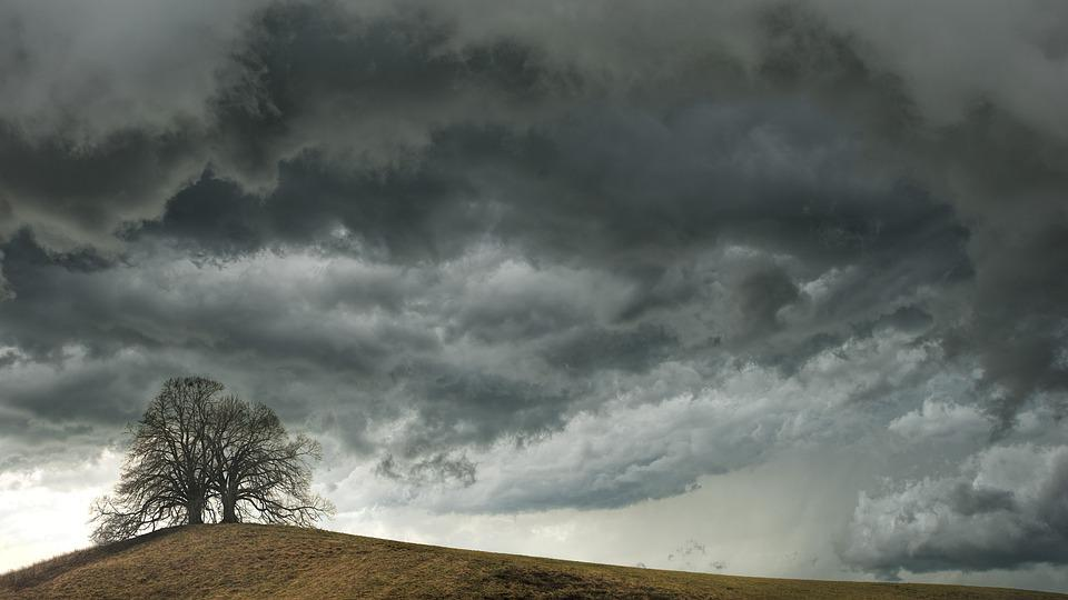 Tree, Weather, Clouds, Hill, Mood, Landscape, Nature