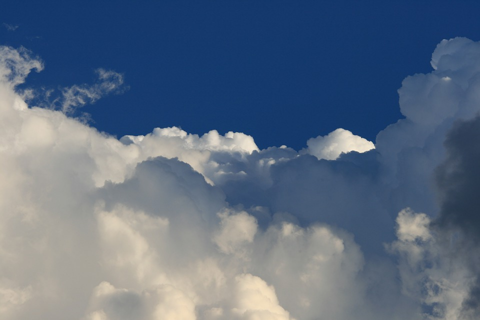 Cumulus Clouds, Weather, Clouds, Large, White, Sky