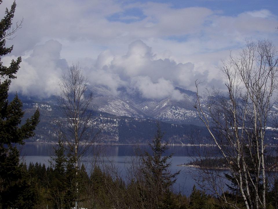 Emerald Lake, Whistler, Mountains, Clouds