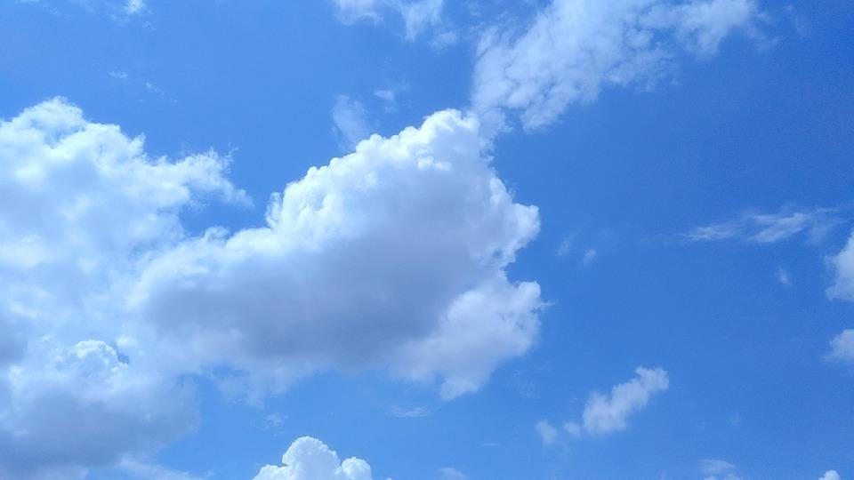 Clouds, Blue Sky, Blue Sky Clouds, Fluffy, Cloudscape