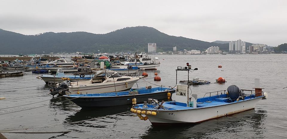 Port, Times, Sea, Cloudy Day, Koyo