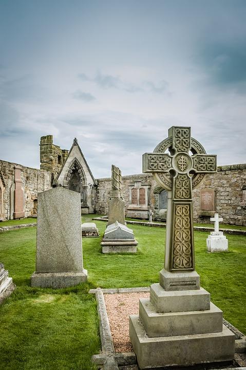 Cemetery, Church, Clouds, Cloudy, Concept, Death