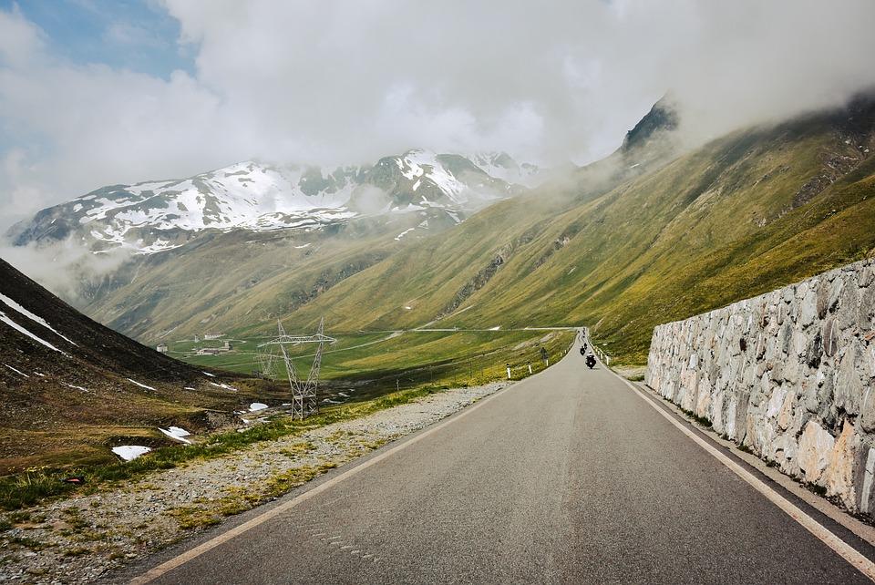 Road, Adventure, Outdoors, Roadway, Landscape, Cloudy