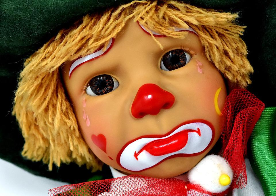 Clown, Doll, Cute, Sad, Children, Colorful, Toys, Funny
