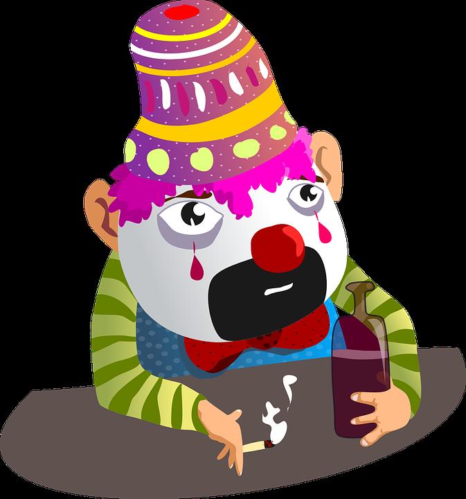 Clown, Sad, Face