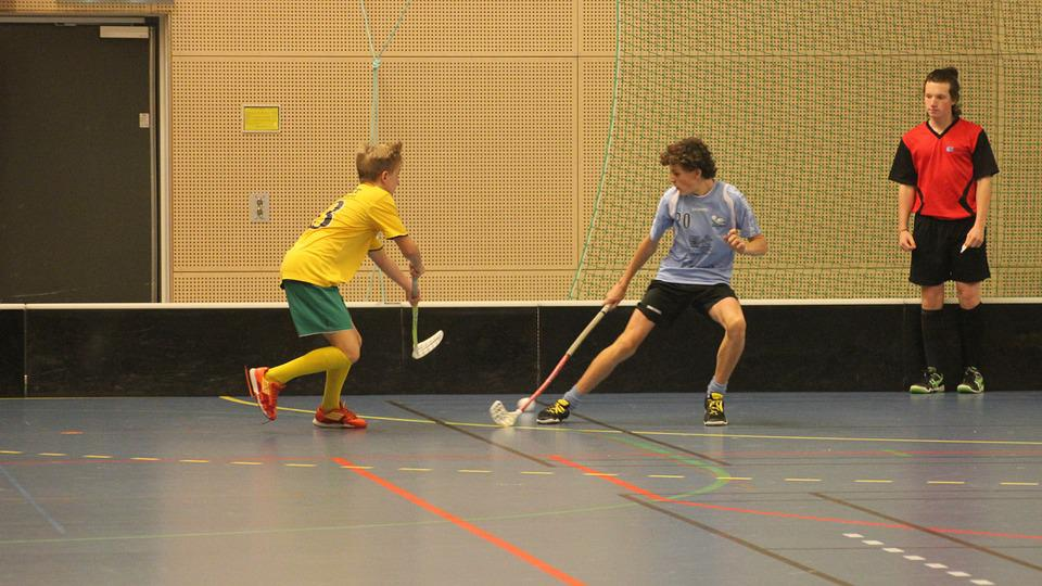 floorball free photo clubs ball duel match floorball judge movement max pixel