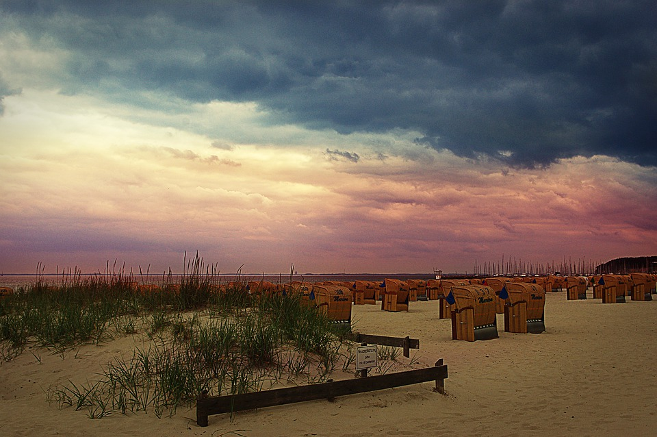 Beach, Baltic Sea, Hohwacht, Clouds, Clubs