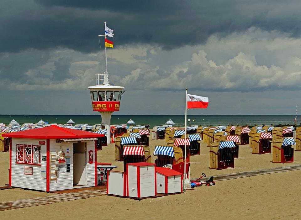 Beach, Travemünde, Clubs, Watchtower, Swimming Champion
