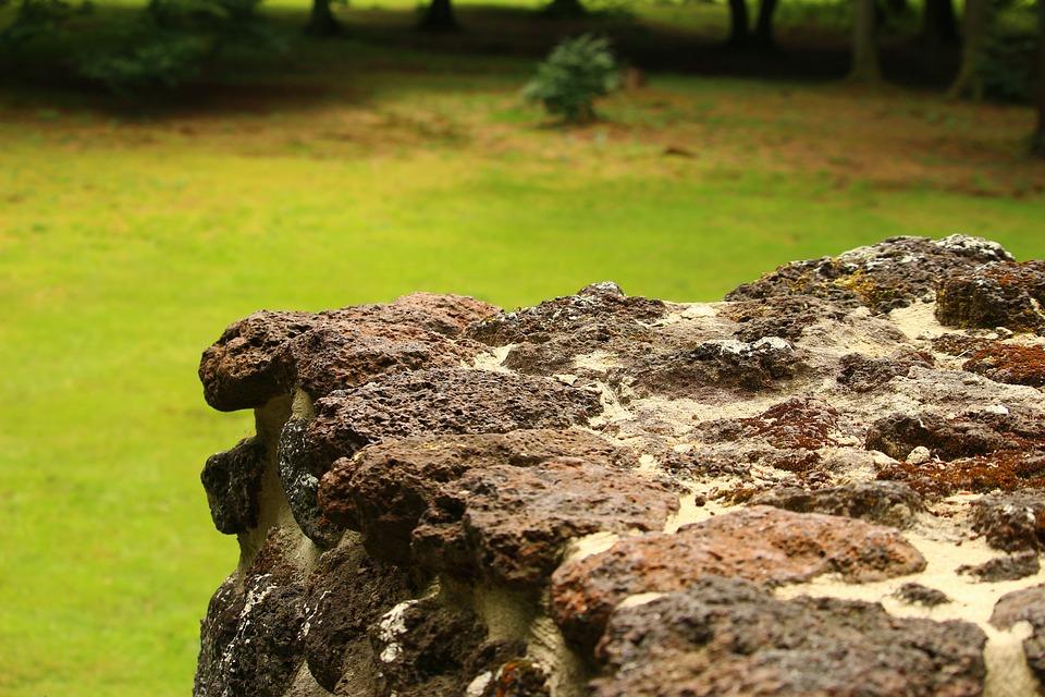 Ruin, Wall, Rasenerz, Clumping Stone, Lawn Eisenstein