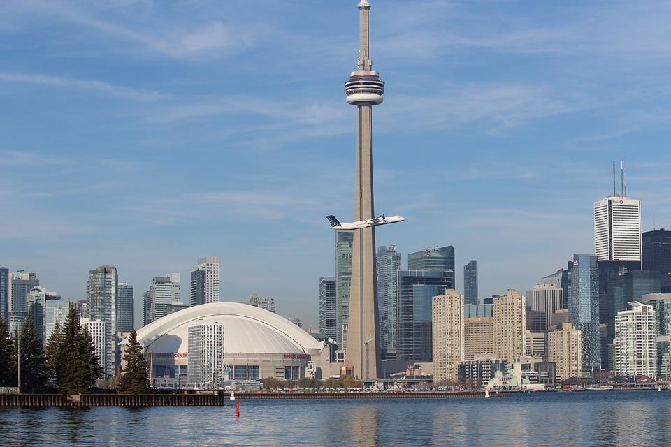 Toronto, Skyline, Cn Tower, Canada, Ontario