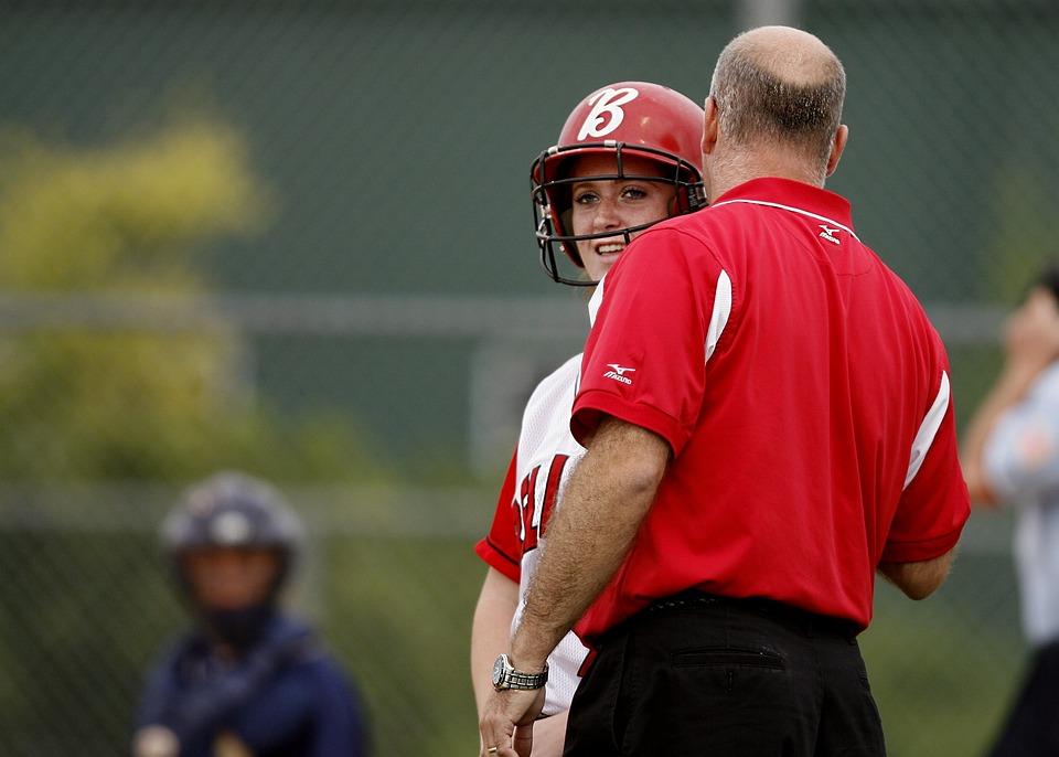 Softball, Coaching, Coach, Player, Helmet, Batter, Team