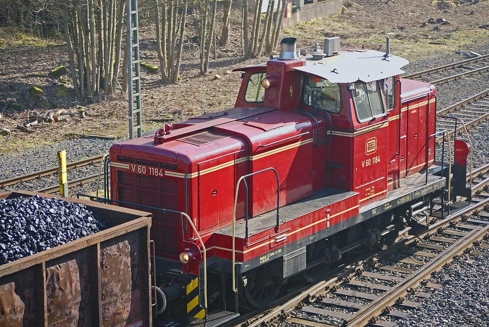 Diesel Locomotive, Switcher, V60, V 60, Coal Train