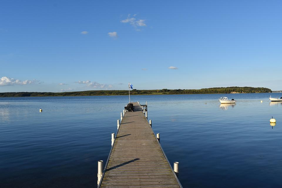 Baltic Sea, Denmark, Coast, Water, Sea View, Port, Rock