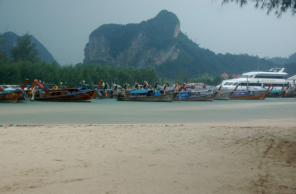 Thailand, Beach, Sea, Water, Summer, Krabi, Coast
