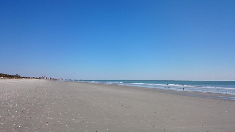 Beach, Sand, Sky, Sea, Ocean, Water, Nature, Coast, Sun