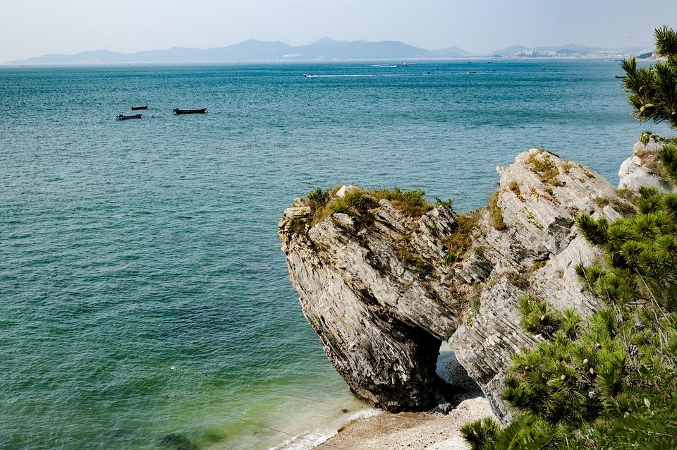 Coast, Rock, Natural, Tourism, Boat, Blue