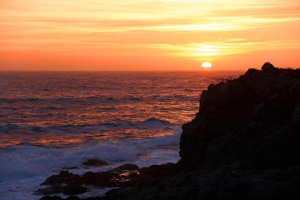 Coastline, Coast, California, Bodega Bay, Ocean, Sea