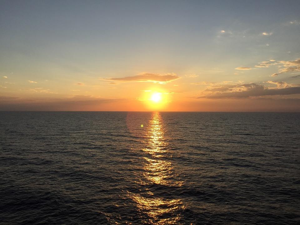 Aruba Sunset Beach Sea Caribbean Water Coast