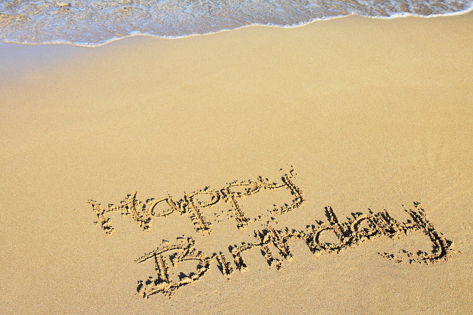 Beach, Happy Birthday, Celebration, Coast, Drawing