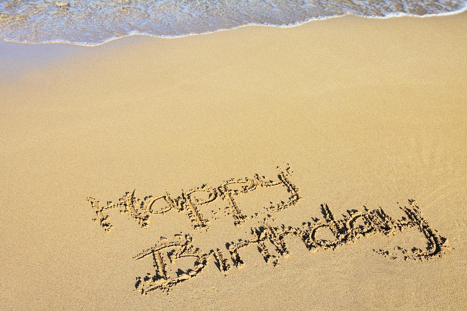 Beach, Happy Birthday, Celebration, Coast, Drawing