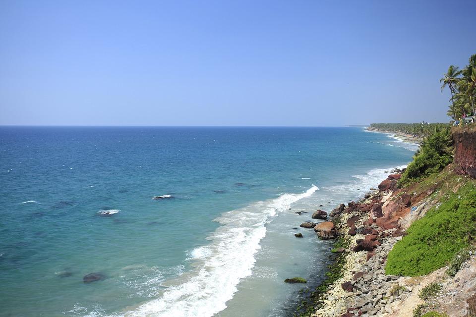 Coast Cliff, Rocky Coast, Western India, Indian Ocean