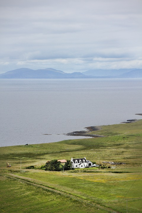 Scotland, Coast, Lonely, Landscape, Clouds, Nature