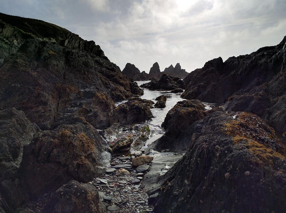 Sea, Rocks, Coast, Coastal, Cornwall, Uk