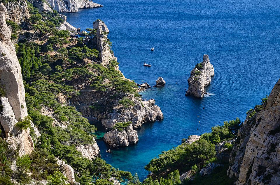 Sea, Cliffs, Cove, Landscape, Rock Formations, Coast
