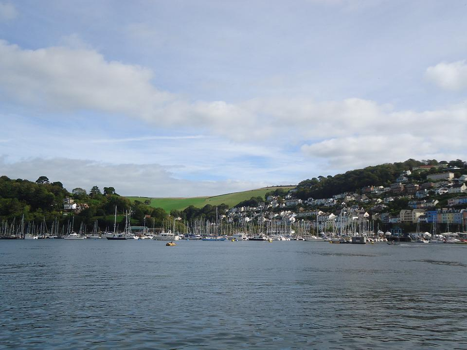 Dartmouth, Devon, River, England, Kingswear, Coast, Uk