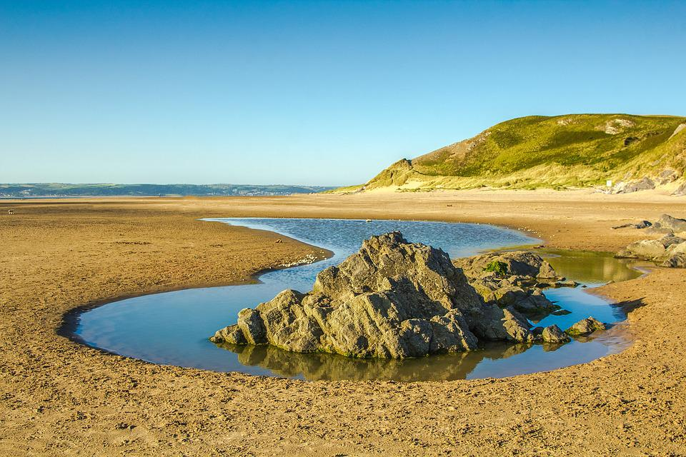 Coast, Ocean, Low Tide, Nature, England