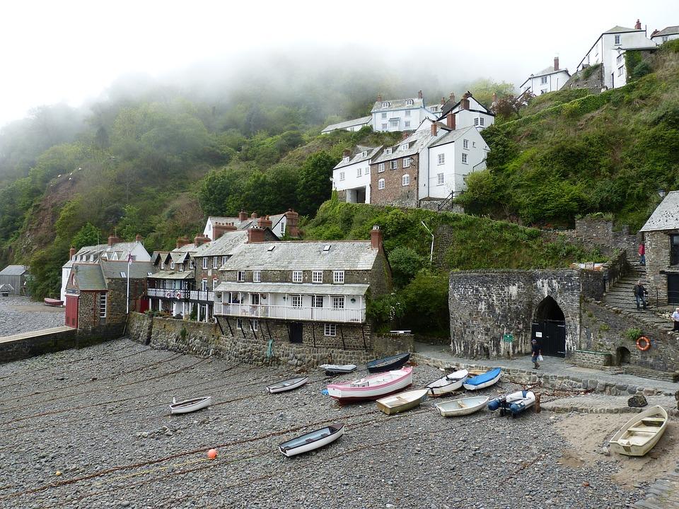Clovelly, Cornwall, England, Village, Coast, Sea, Boot