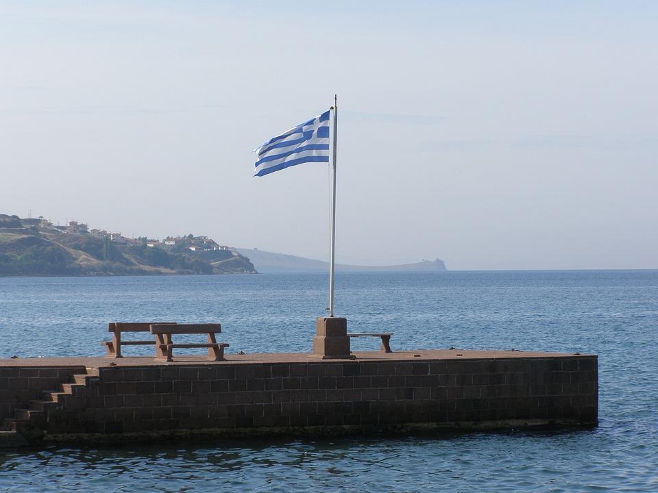 Greece, Flag, Sea National, Coast, Country, Symbol