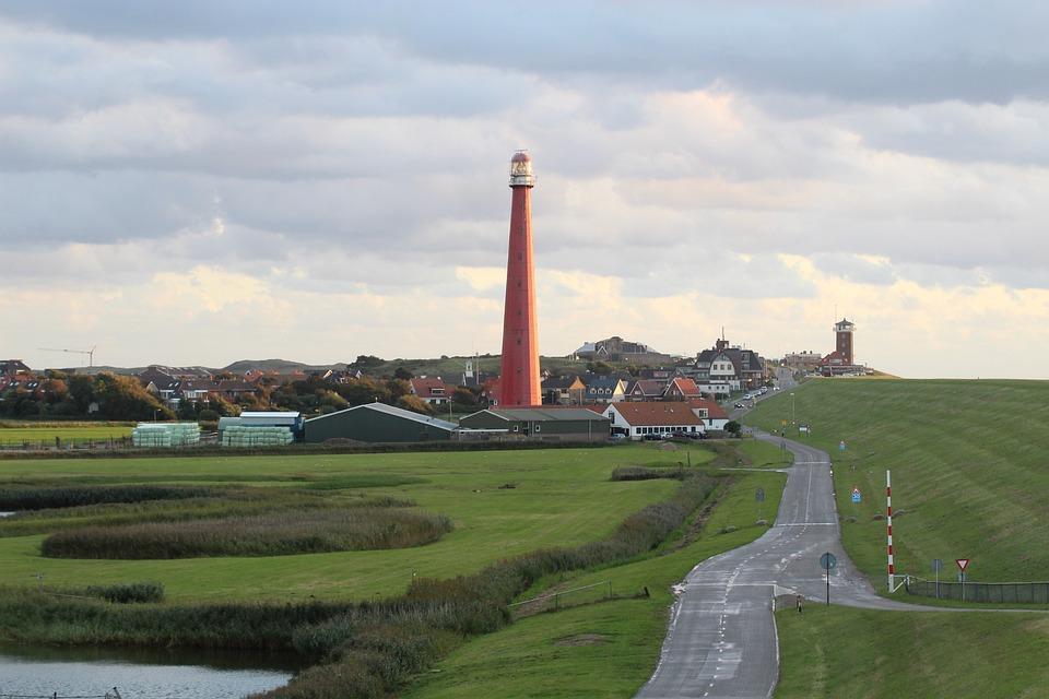 Lighthouse, Coast, North Sea, Sea, Landscape, Dunes
