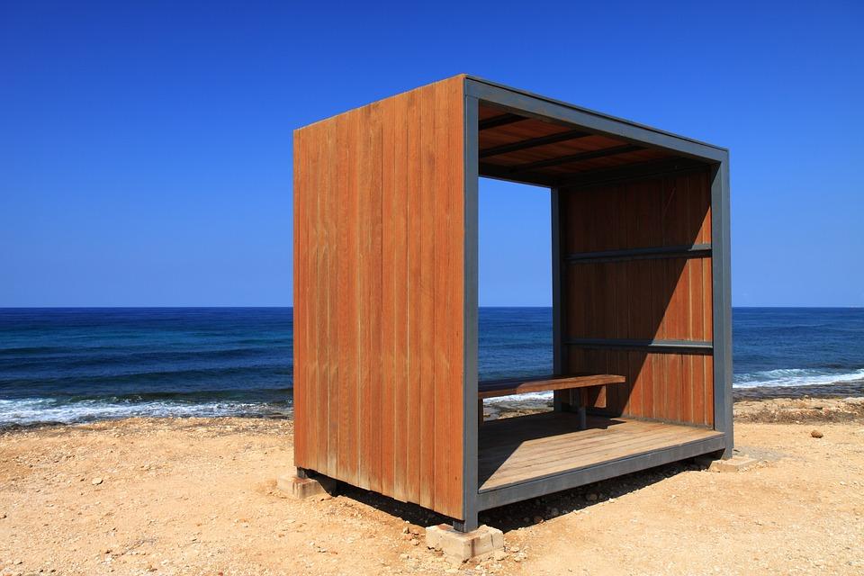 Bench, Blue, Coast, Landscape, Lonely, Nature, Ocean