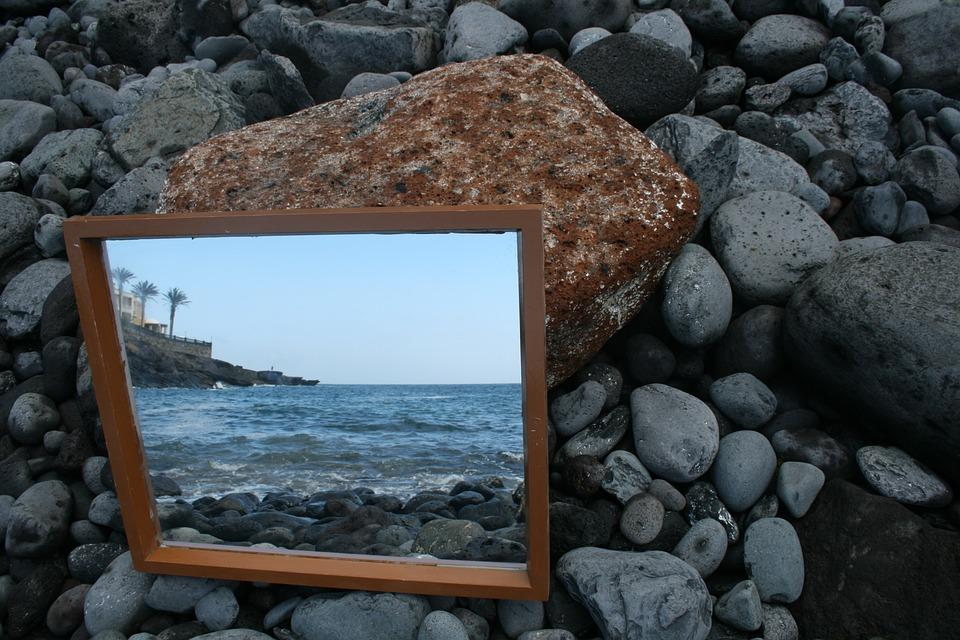 Art, Mirror, Water, Sea, Coast, Viewing