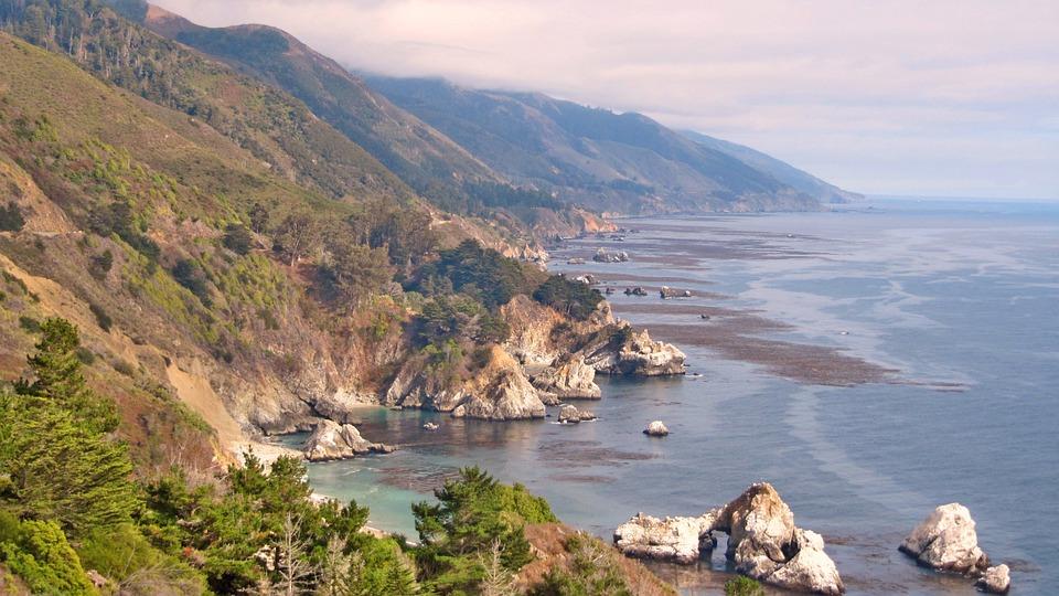 Usa, Highway 101, Landscape, Nature, Sea, Coast