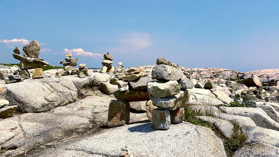 Peggy's Cove, Nova Scotia, Rocks, Ocean, Balance, Coast