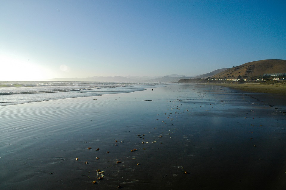 California, Beach, Pacific, Sea, Water, Coast, Sand