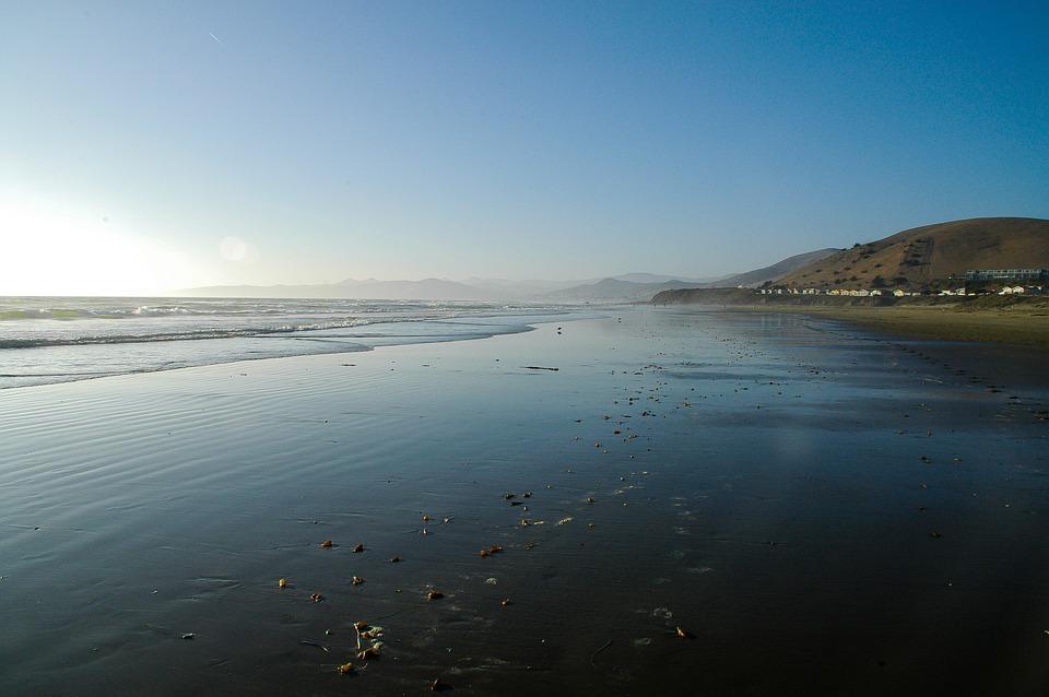 California, Beach, Pacific, Sea, Water, Coast, Sand