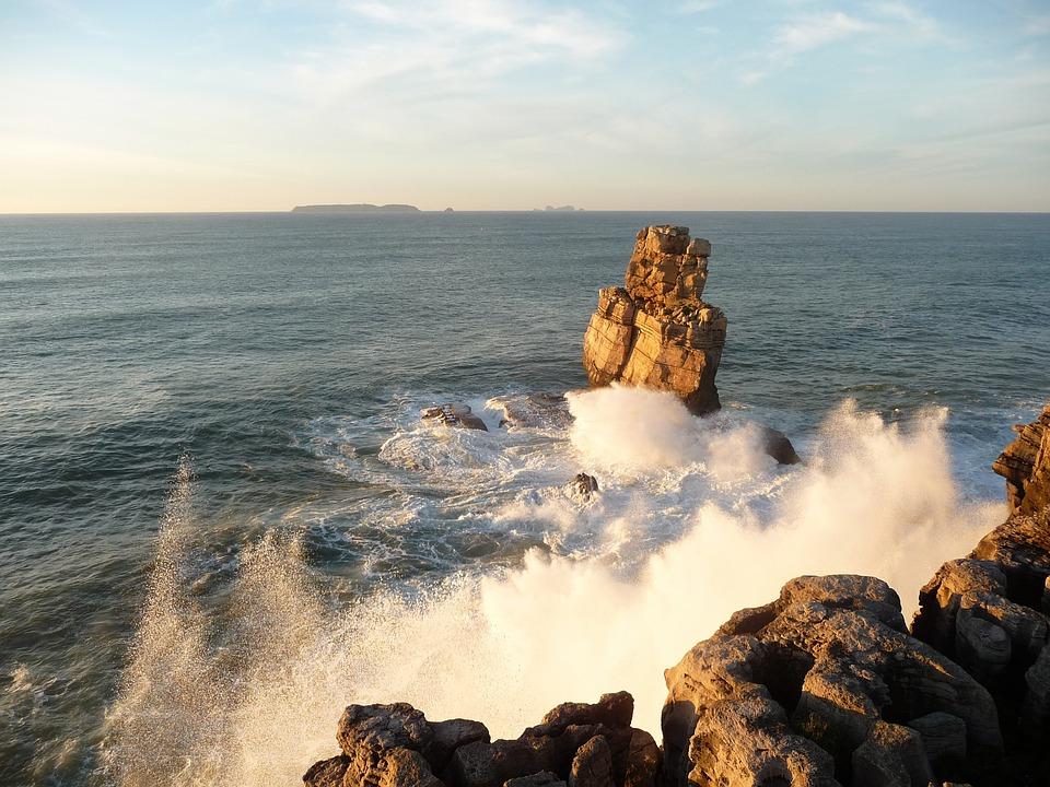 Atlantic, Coast, Sea, Peniche, Portugal
