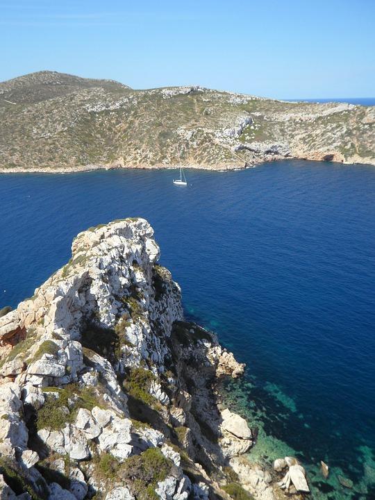 Mediterranean, Cliff, Rocky Coast, Sea, Coast, Holiday