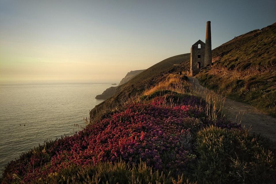 Cornwall, Uk, Coast, Mining, Sea, Landscape, Ocean